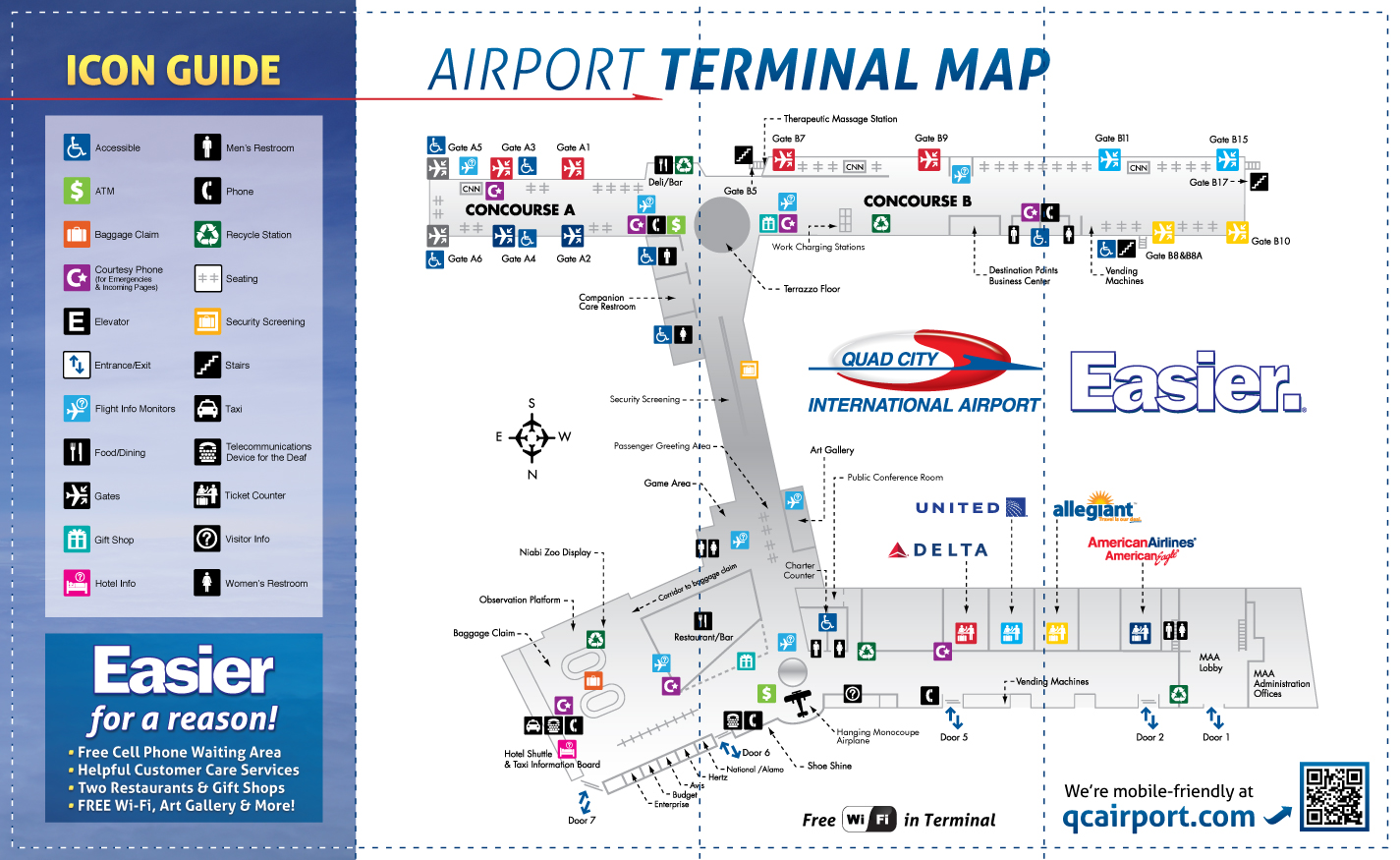 Terminalmap on Enterprise Car Rental Tampa Airport